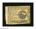 Colonial Notes:Continental Congress Issues, Continental Currency February 17, 1776 $4 Extremely Fine-About New.The upper left-hand corner reveals an edge tear....