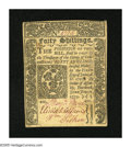 Colonial Notes:Connecticut, Connecticut June 1, 1773 40s About Very Fine. This note was lot1430 in Part VIII of the John J. Ford Collection. Mounting r...