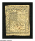 Colonial Notes:Delaware, Delaware January 1, 1776 5s Very Fine. A very well marginedDelaware note with three bold signatures and serial number as we...