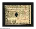 Colonial Notes:Massachusetts, Massachusetts May 5, 1780 $20 Gem New. A boldly printedMassachusetts note with small diamond cancellation, strongsignature...