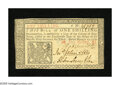 Colonial Notes:New Jersey, New Jersey March 25, 1776 1s Choice New. A lovely choice note thathas excellent embossing and superb face emblem. The sign...