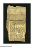 Colonial Notes:Pennsylvania, Pennsylvania.. April 3, 1772 6d Two Examples AG, torn in half andpinned together; AG, large tear. April 10, 1777 4s left ... (Total:3 notes)