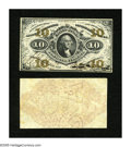 Fractional Currency:Third Issue, Fr. 1254SP 10c Narrow Margin Specimen Pair Third Issue Choice New. A wonderful pair of this much scarcer Jeffries-Spinner au... (Total: 2 notes)