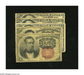 Fractional Currency:Fifth Issue, Fr. 1265 10c Fifth Issue VG.. Fr. 1266 10c Fifth Issue VG.. Fr.1308 25c Fifth Issue Two Examples VG-Fine.. Fr. 13... (Total: 5notes)