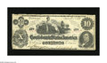 "Confederate Notes:1862 Issues, T46 $10 1862. An engraving error is found on this popular variety, with the ""s"" after ""Month"" missing. Fine+...."