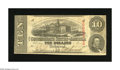 Confederate Notes:1863 Issues, T59 $10 1863. This $10 is Fine-Very Fine and free of pinholes....