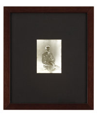 """LIEUTENANT COLONEL JOHN SINGLETON MOSBY (1833-1916), KNOWN AS THE """"GRAY GHOST"""": PHOTOGRAPHIC NEGATIVE"""
