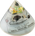 Explorers:Space Exploration, Apollo 8 Flown Heat Shield Segments in Full Capsule-Shaped AcrylicDisplay from North American Rockwell. ...