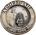 Explorers:Space Exploration, Apollo 12 Flown Silver Robbins Medallion, Serial Number 232,Originally from the Personal Collection of Mission BackupCommand...