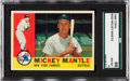 Baseball Cards:Singles (1960-1969), 1960 Topps Mickey Mantle #350 SGC 88 NM/MT 8....