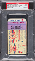Baseball Collectibles:Tickets, 1955 World Series Game 7 Ticket Stub PSA VG-EX 4....