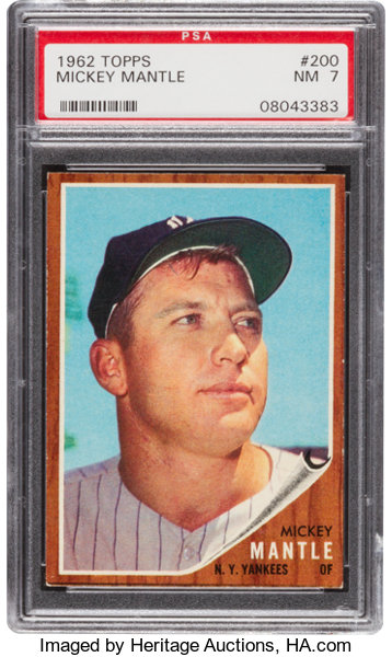 1962 Topps Mickey Mantle 200 Psa Nm 7 Baseball Cards Singles