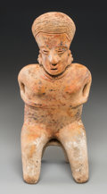 Pre-Columbian:Ceramics, A Nayarit Seated Figure...