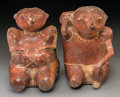 Pre-Columbian:Ceramics, Two Nayarit Chinesco Seated Figures... (Total: 2 Items)