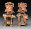 Pre-Columbian:Ceramics, A Nayarit Seated Couple. ... (Total: 2 Items)