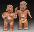 Pre-Columbian:Ceramics, A Nayarit Standing Couple... (Total: 2 Items)