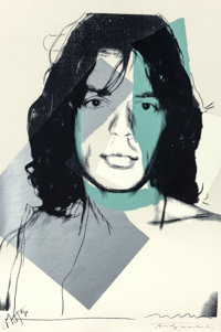 Andy Warhol (1928-1987) Mick Jagger, 1975 Screenprint in colors on Arches Aquarelle paper 43-5/8