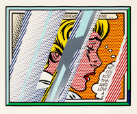 Roy Lichtenstein (1923-1997) Reflections on Girl, from the Reflections series, 1990 Litho