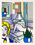 Works on Paper, Roy Lichtenstein (1923-1997). Roommates, from Nude Series, 1994. Relief in colors on Rives BFK paper, with full marg...
