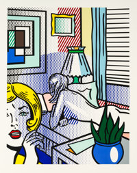 Roy Lichtenstein (1923-1997) Roommates, from Nude Series, 1994 Relief in colors on Rives