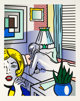 Roy Lichtenstein (1923-1997) Roommates, from Nude Series, 1994 Relief in colors on Rives BFK paper, with full marg
