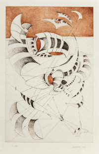 Lee Bontecou (b. 1931) Untitled, from National Collection of Fine Arts Portfolio, 1967 Et