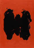 Prints & Multiples, Robert Motherwell (1915-1991). Three Figures, 1989. Lithograph in colors on Somerset paper. 55-1/2 x 39-3/4 inches (141....