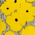 Fine Art - Work on Paper:Print, Donald Sultan (b. 1951). Yellow Flowers on a StrippedGround, 2002. Etching and woodcut with sprayed paper pulp onSTPI ...
