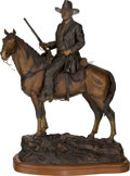Fine Art - Sculpture, American:Contemporary (1950 to present), David Manuel (American, b. 1940). The American Legend, JohnWayne, 1984. Bronze with brown patina. 31 inches (78.7 cm) h...