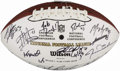 Autographs:Footballs, 2008 Ed Block Courage Awards Multi-Signed Football. . ...