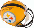 "Football Collectibles:Uniforms, Jack Ham Signed Pittsburgh Steelers Full-Sized Helmet - Includes ""HOF 88"" Inscription. . ..."