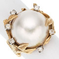 Estate Jewelry:Rings, Diamond, Mabe Pearl, Gold Ring. ...