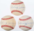 "Autographs:Baseballs, Bill Mazeroski & Ralph Terry Multi-Signed Baseball Trio (3) -""10-13-60"" Inscription...."
