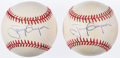 Autographs:Baseballs, Tony Gwynn Single Signed Baseball Pair (2). ...