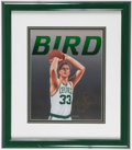Basketball Collectibles:Others, Larry Bird Signed Lithograph by B. Toohey....