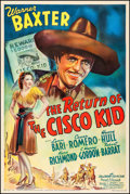 "Movie Posters:Western, The Return of the Cisco Kid (20th Century Fox, 1939). One Sheet (27.5"" X 41""). Western.. ..."