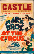 "Movie Posters:Comedy, At the Circus (MGM, 1939). Window Card (14"" X 22""). Comedy.. ..."