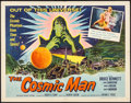 "Movie Posters:Science Fiction, The Cosmic Man (Allied Artists, 1959). Half Sheet (22"" X 28"").Science Fiction.. ..."