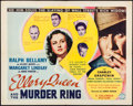 "Movie Posters:Mystery, Ellery Queen and the Murder Ring (Columbia, 1941). Half Sheet (22""X 28""). Mystery.. ..."