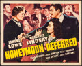 "Movie Posters:Mystery, Honeymoon Deferred & Other Lot (Universal, 1940). Folded,Fine/Very Fine. Half Sheets (2) (22"" X 28""). Mystery.. ....."