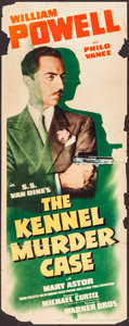 "Movie Posters:Mystery, The Kennel Murder Case (Warner Brothers, R-1942). Insert (14"" X36""). Mystery.. ..."