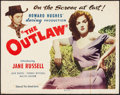 "Movie Posters:Western, The Outlaw (United Artists, 1946). Half Sheet (22"" X 28"").Western.. ..."