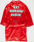 """Boxing Collectibles:Autographs, Ray """"Boom Boom"""" Mancini Signed Robe...."""