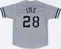 Autographs:Jerseys, Sparky Lyle Signed New York Yankees Jersey....