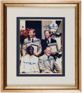Autographs:Photos, 1974 Baseball Hall of Fame Induction Class Multi-Signed Photograph- Mantle, Ford, Bell and Conlan....