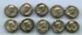 Ancients:Ancient Lots  , Ancients: GROUP LOTS. Roman Imperial. Lot of ten (10) Hadrian ARdenarii. Fine-VF.... (Total: 10 coins)