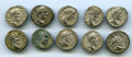 Ancients:Ancient Lots , Ancients: GROUP LOTS. Roman Imperial. Lot of ten (10) SeptimiusSeverus AR denarii. About VF-XF.... (Total: 10 coins)
