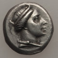 Ancients:Greek, Ancients: PONTUS. Amisus. Ca. 300-125 BC. AR hemidrachm (1.71 gm).Choice VF....