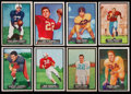 Football Cards:Sets, 1951 Topps Magic Football Partial Set Scratched (43/75). ...