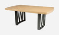 Furniture , Paul Frankl (Austrian, 1886-1958). Dining Table, circa 1950, Johnson Furniture Co.. Painted wood, cork. 29 x 96 x 42-1/2... (Total: 5 Items)